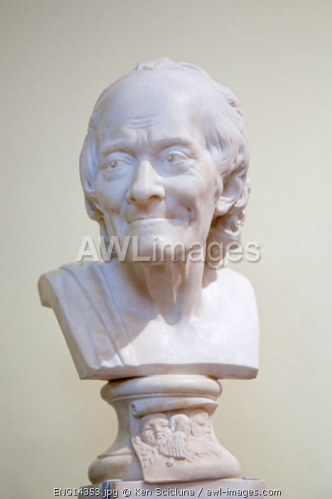 United Kingdom. England. London. Voltaire s bust at the Victoria and Albert Museum.