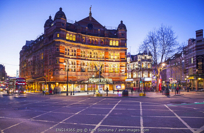 United Kingdom. England. London. The Palace Theatre running Harry Potter play.