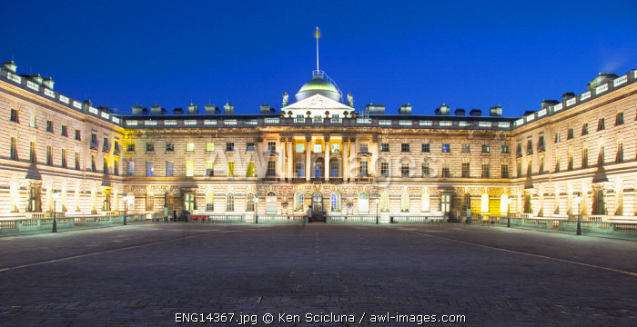 United Kingdom. England. London. Somerset House on the Thames