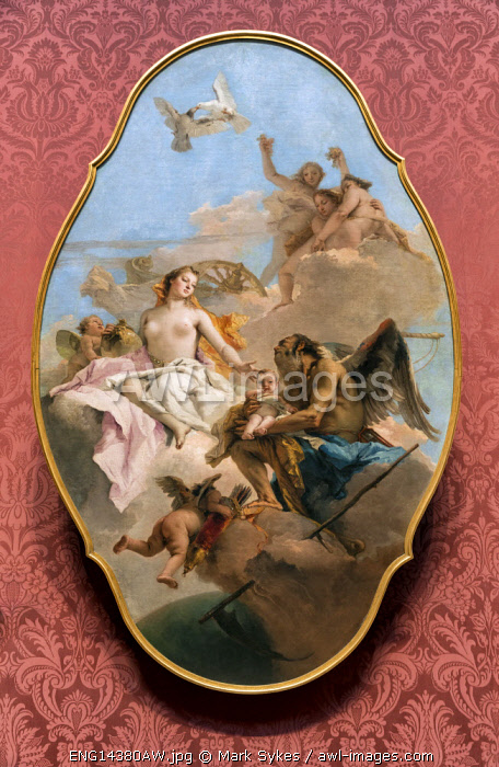 Europe,United Kingdom, England, London, National Gallery, An Allegory with Venus and Time