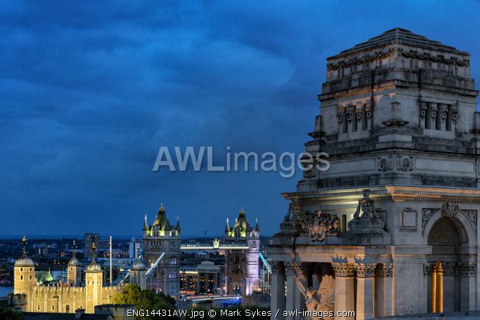 Europe,United Kingdom, England, London, Tower of London & Tower Bridge & Port of London Authority Building