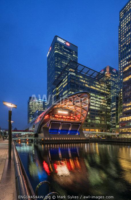 Europe,United Kingdom, England, London, Canary Wharf