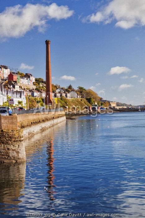 Chimney stack, Lynch's Quay, Cobh, Co. Cork, Munster,Ireland.