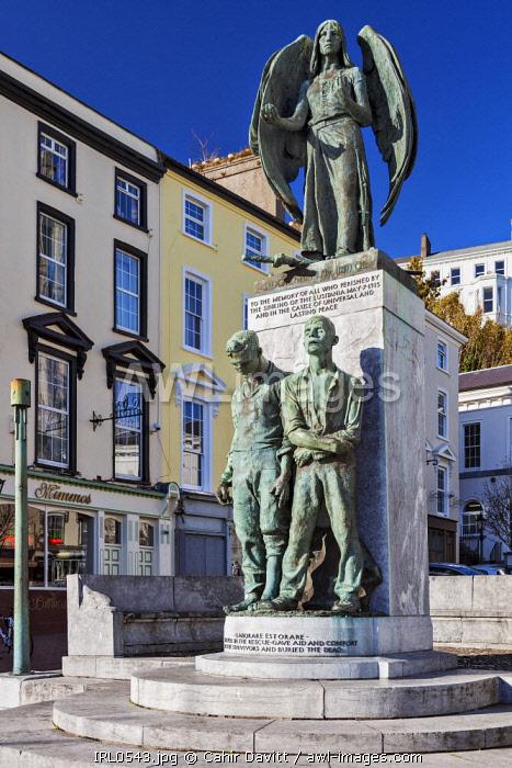 The Lusitania Peace Memorial, Pearse Square, Cobh, Co. Cork, Munster,Ireland.