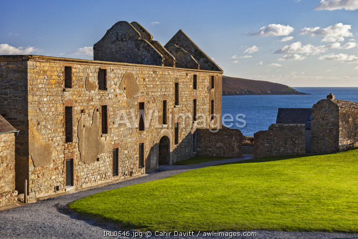The  Soldiers Quarters of the 17th Century Charles Fort overlooking the Celtic Sea, Kinsale, Co. Cork, Munster,Ireland.