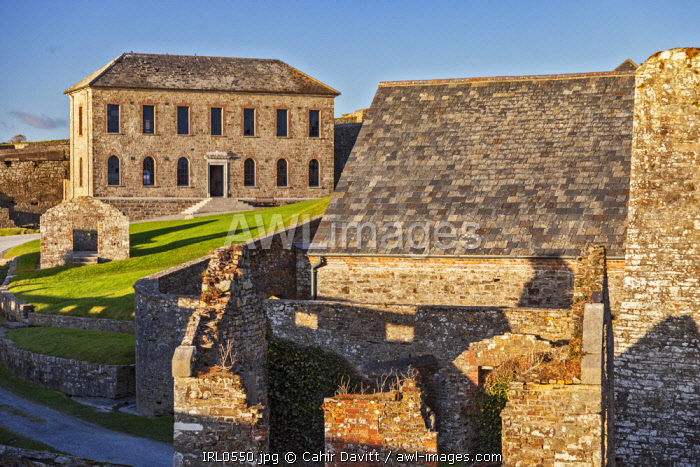The Officers House / Barrack Stores , Soldiers Quarters, and Magazine of the 17th Century Charles Fort, Kinsale, Co. Cork, Munster,Ireland.