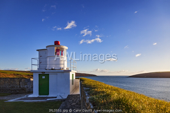 The seaward bastions and Lighthouse (by Robert Reading) of the 17th Century Charles Fort, looking towards the Celtic Sea,Kinsale, Co. Cork, Munster,Ireland.