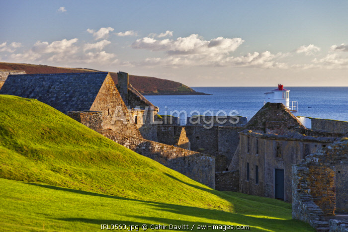The Soldiers Quarters, and Magazine of the 17th Century Charles Fort, Kinsale, Co. Cork, Munster, Ireland.