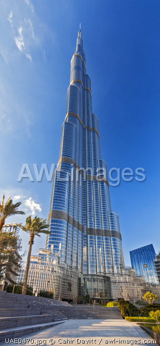 The Burj Khalifa (Armani Hotel) designed by Skidmore Owings and Merrill, Business Bay, Dubai, The United Arab Emirates.