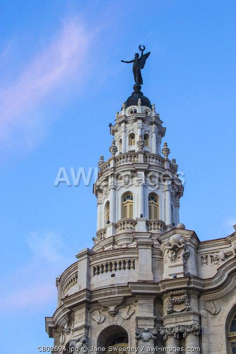 Cuba, Havana, Parque Central, Gran Teatro de la Habana - Grand Theatre
