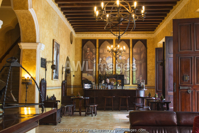 Cuba, Havana, Habana Vieja - Old Town, Hotel Los Frailes, built in the style of a 1642 monastery, once frequented by nobility,  dignitaries, military authorities and renowned artists