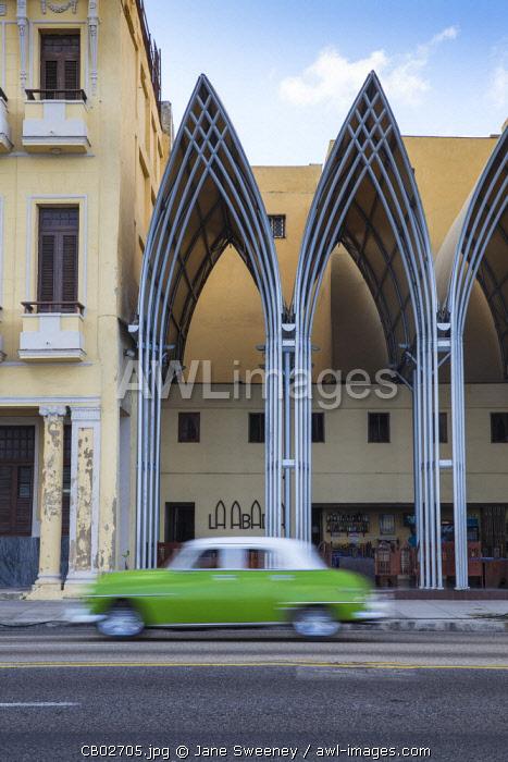 Cuba, Havana, The Malecon, Classic America  car