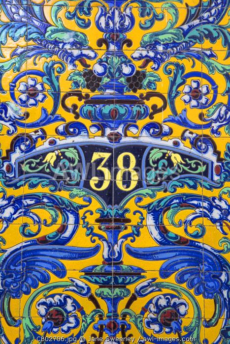Cuba, Havana, Habana Vieja - Old Havana, Colourful tiles on house