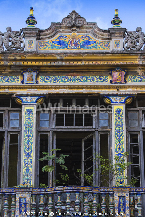 Cuba, Havana, Habana Vieja - Old Havana, Colourful tiles on old house