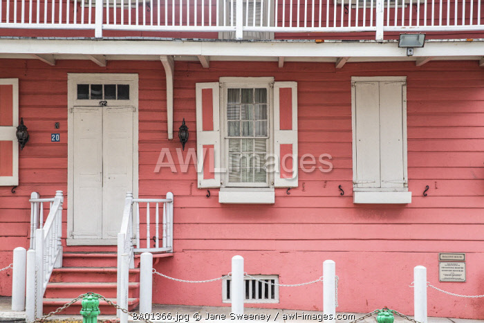 Caribbean, Bahamas, Providence Island, Nassau, Balcony House Museum - the oldest existing wooden residential building in The Bahamas