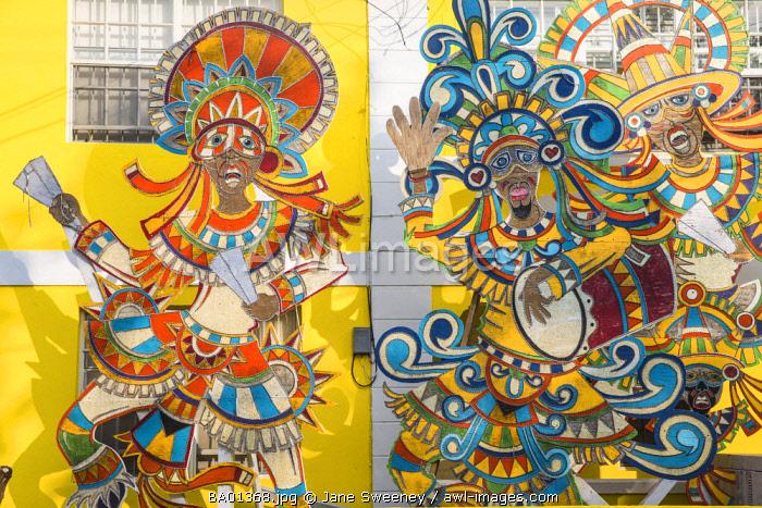 Caribbean, Bahamas, Providence Island, Nassau, Junkanoo Museum