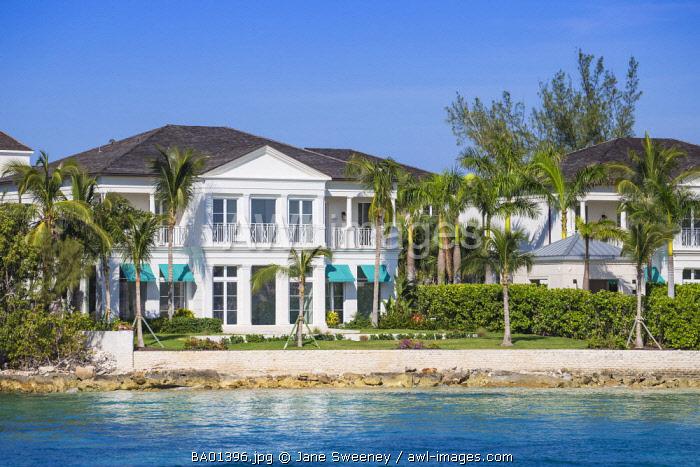 Caribbean, Bahamas, Nassau, House on  Paradise Island,