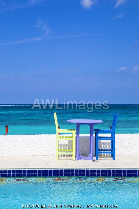 Caribbean, Bahamas, Providence Island, Swimming pool at Compass Point resort