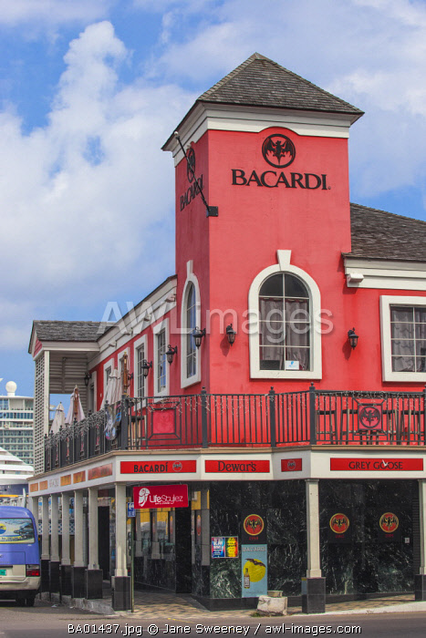 Caribbean, Bahamas, Providence Island, Nassau, Bacardi building - Bacardi Store & Bar Lounge now home to LifeStylez Bar & Lounge