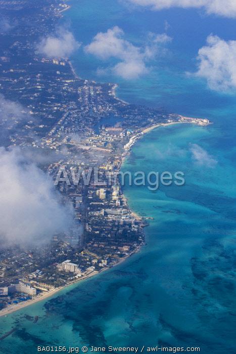 Caribbean, Bahamas, Providence Island, Nassau, View of Cable beach