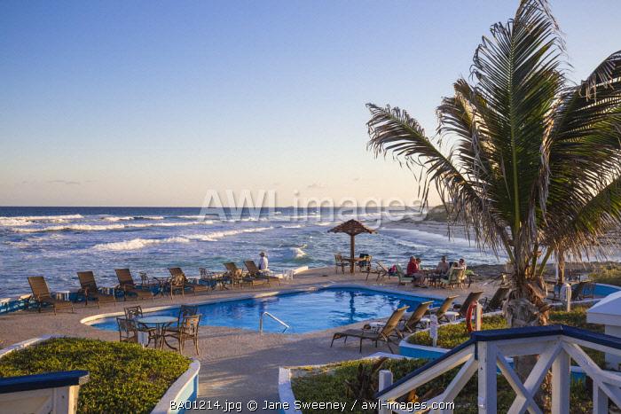 Bahamas, Abaco Islands, Elbow Cay, Swimming pool at the Abaco Inn Resort