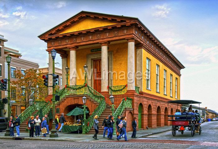 Charleston, South Carolina, Market Hall, Greek Revival Style, National Historical Landmark, National Register Of Historic Places, City Market, Meeting Street, Colonial America