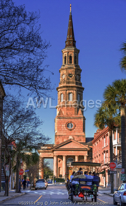 Charleston, South Carolina, Saint Philip's Episcopal Church, National Historic Landmark, Church Street, Horse Carriage Tour, Colonial America