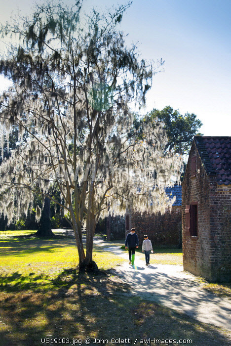 Charleston, South Carolina, Boone Hall Plantation And Gardens, Antebellum Era, Slave Street, Original Slave Brick Cabins, African American Historic Places, National Register Of Historic Places