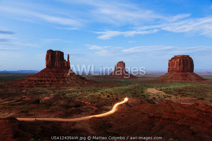 Dusk at Monument Valley, Arizona, USA