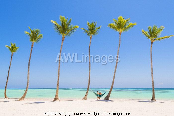 Juanillo Beach Playa Punta Cana Dominican Republic Relaxing On