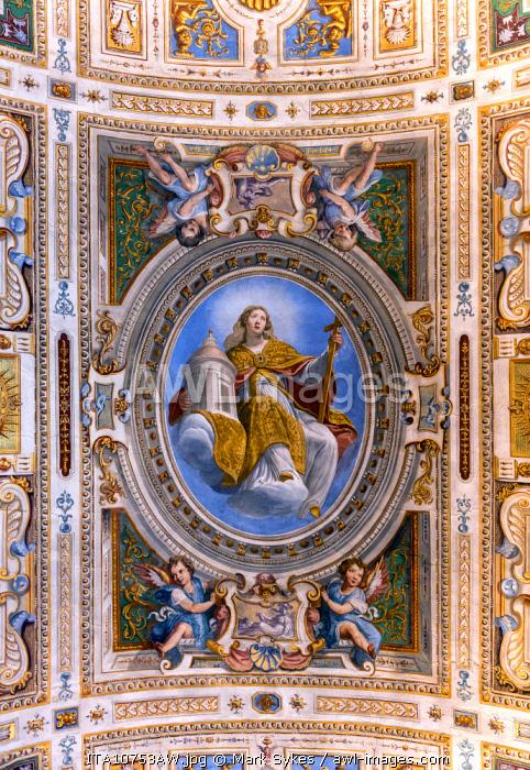 Europe, Italy, Tuscany, Florence, Palazzo Pitti Ceiling