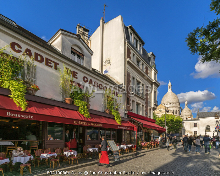 Wwwawl Imagescom Restaurants And Cafes In Montmartre With Sacre