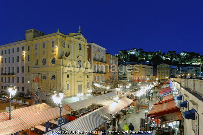 France, Alpes-Maritimes, Nice, cours Saleya, vault of the Mercy (18th century)