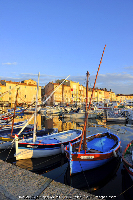 France, Var, Saint Tropez, the old port