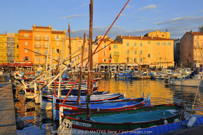 France, Var, Saint Tropez, the old port