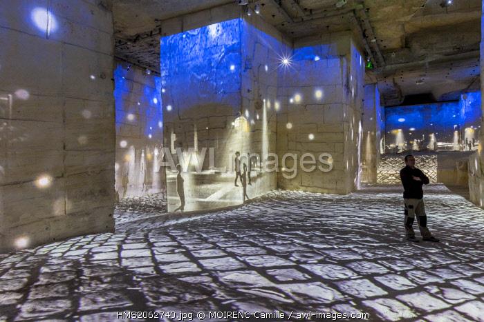 France, Bouches du Rhone, Les Baux de Provence, Careers Light show Gianfranco Iannuzzi, the invisibles cities