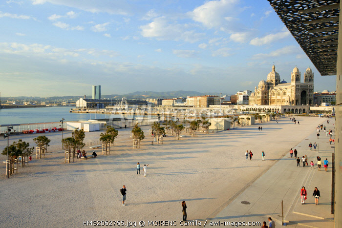 France, Bouches du Rhone, Marseille, Euromediterranean area, MuCEM Museum of Civilization in Europe and the Mediterranean R. Ricciotti and R. Carta architects