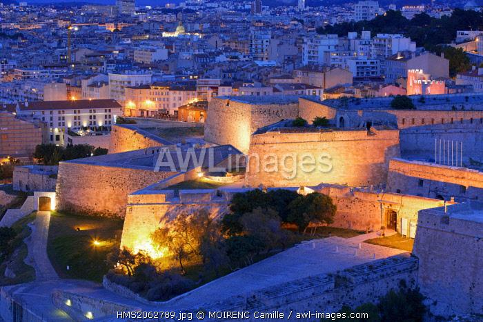 France, Bouches du Rhone, Marseille, district Pharo, Citadel Saint Nicolas Historical Monument, Fort d'Entrecasteaux (17th century)