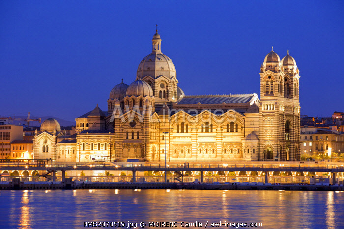 France, Bouches du Rhone, Marseille, Euromediterranee area, the Cathedral The Major (19th century) Historical Monument