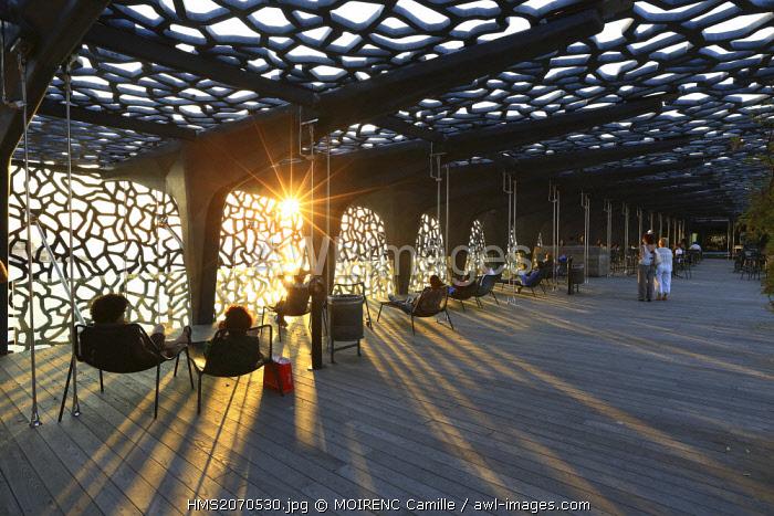 France, Bouches du Rhone, Marseille, Euromediterranee area, MuCEM Museum of Civilization in Europe and the Mediterranean R. Ricciotti and R. Carta architects