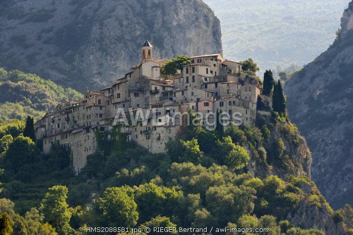 France, Alpes Maritimes, the hilltop village of Peillon