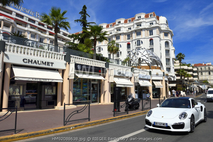 France, Alpes Maritimes, Cannes, the Majestic hotel from the groupe Barrière on the boulevard de la Croisette