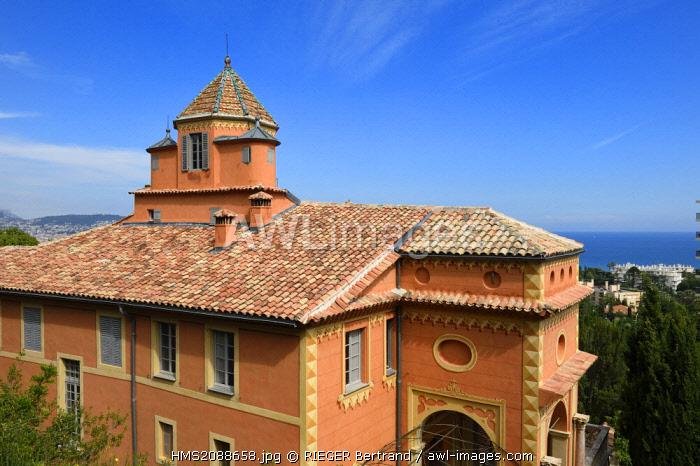France, Alpes Maritimes, Nice, Fabron hill, Abbaye de Roseland (Roseland abbey)