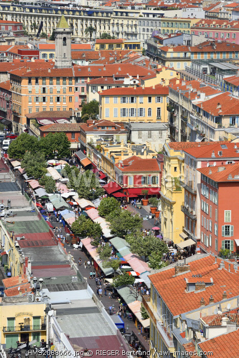 France, Alpes Maritimes, Nice, the cours Saleya in the Old Town