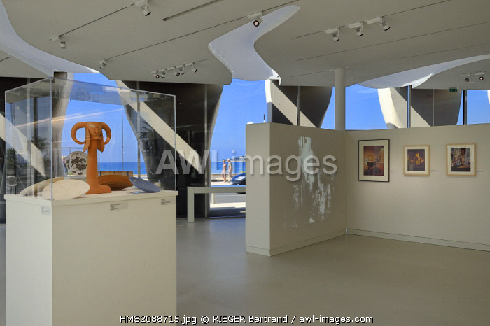 France, Alpes Maritimes, Menton, Jean Cocteau Museum built in 2008 by architect Rudy Ricciotti