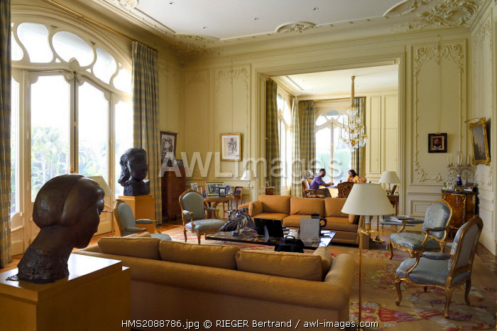 France, Alpes Maritimes, Cannes, the Villa La Californie where Picasso lived, today renamed the Pavillon de Flore by Marina Picasso, the living room was once the workshop