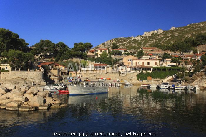 France, Bouches du Rhone, Le Rove, Niollon creek