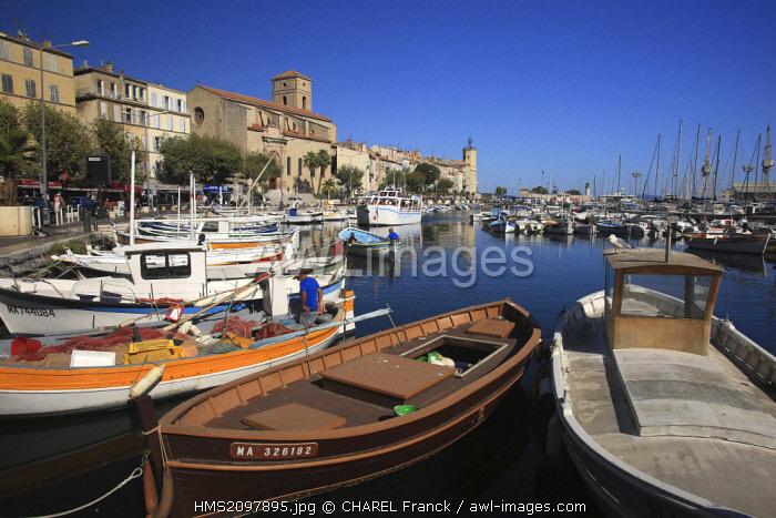 France, Bouches du Rhone, La Ciotat, Fishermen boats in the La Ciotat harbour