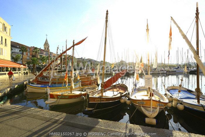 France, Var, Sanary sur Mer, Quai Marie Esmenard, harbor
