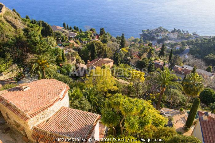 France, Alpes Maritimes, Nice, the hilltop village of Roquebrune Cap Martin